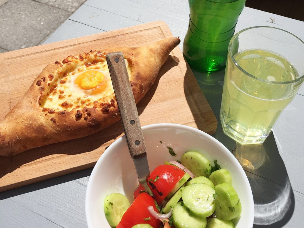 Mittagessen in Moskau