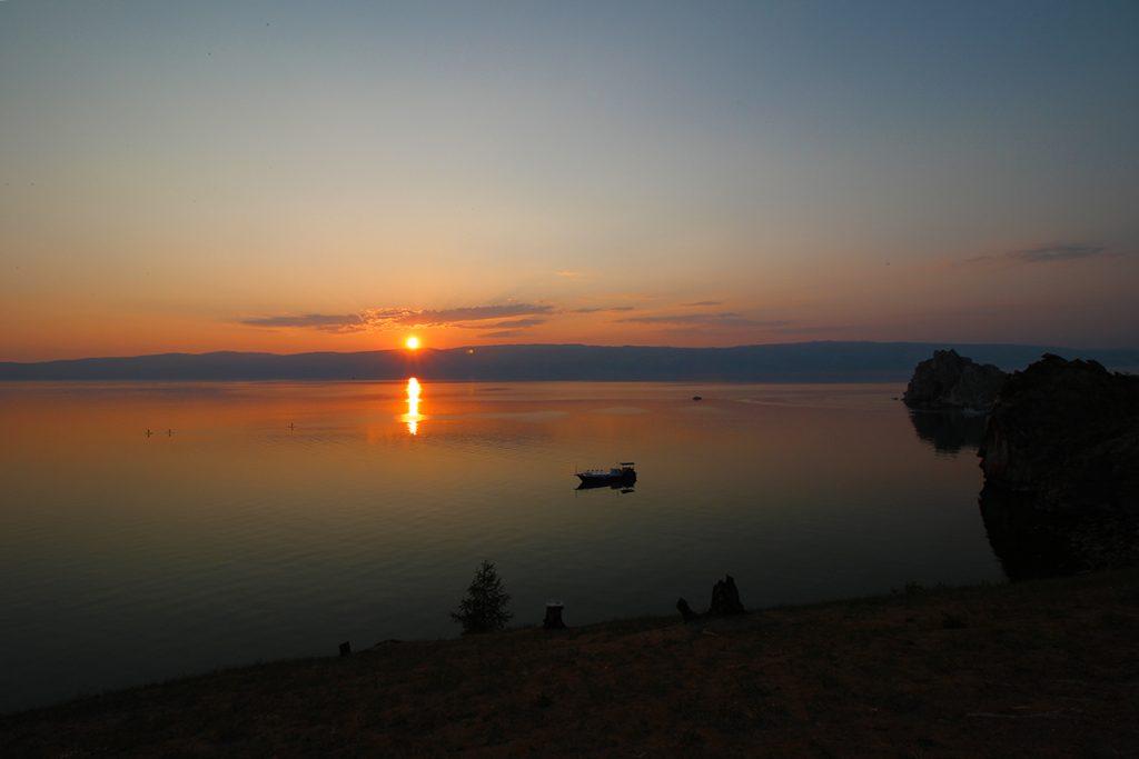 Sonnenuntergang Bajkalsee