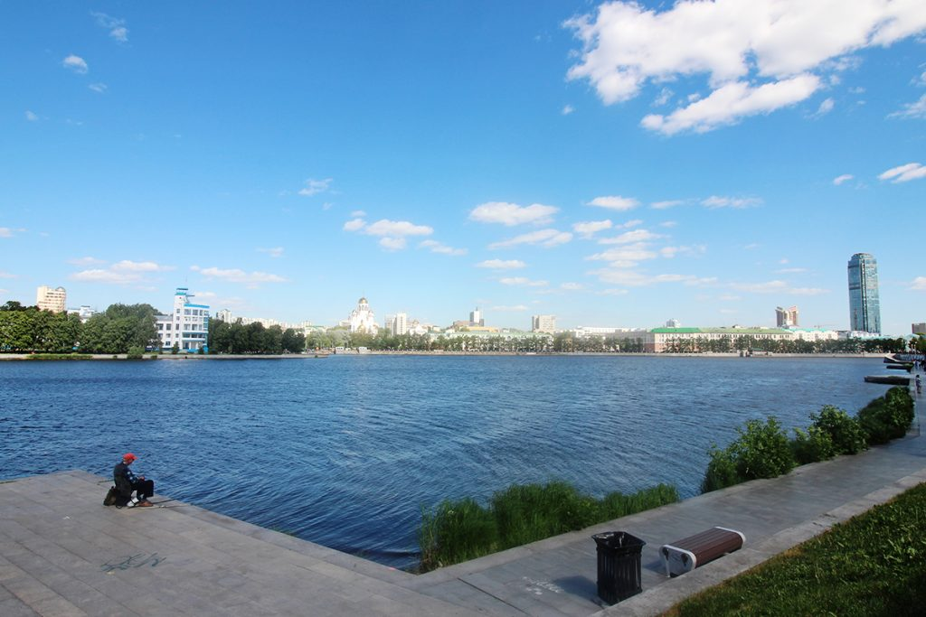 Damm in Yekaterinburg