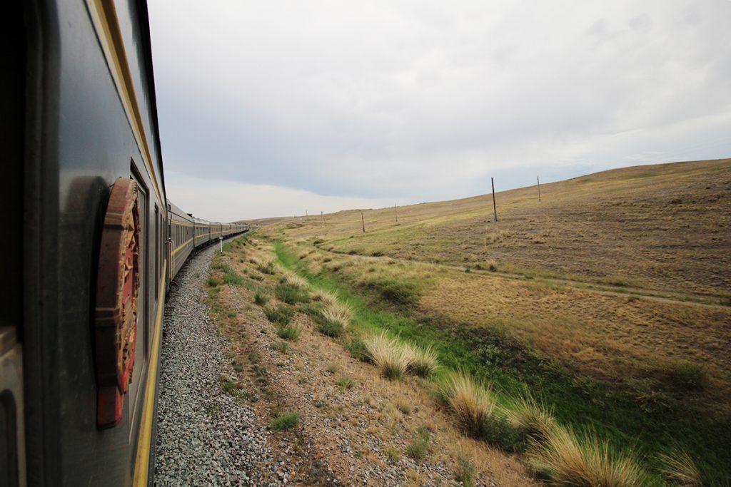 Aussicht Zug Mongolei