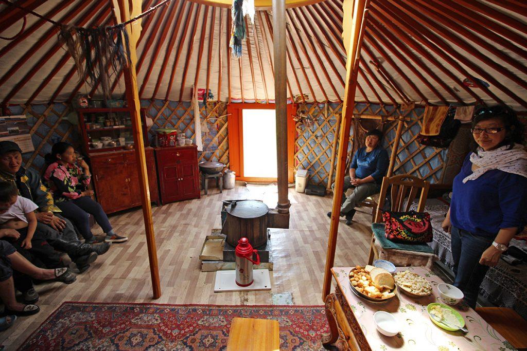 Nomadenfamilie Wohnzimmer