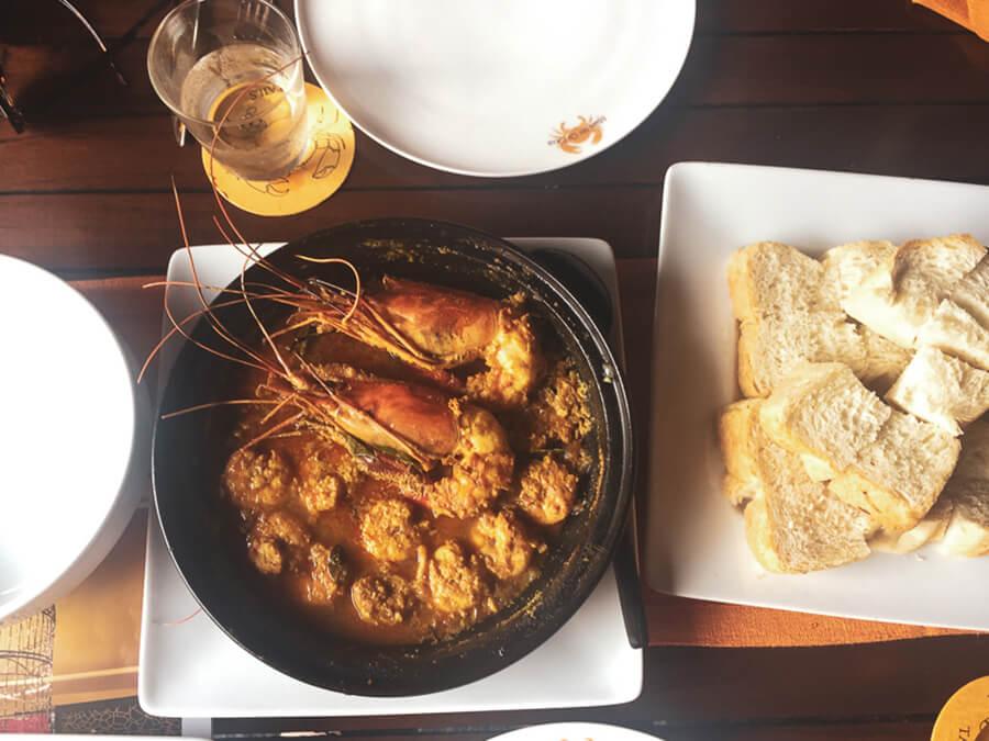 Reisebericht Sri Lanka, Essen Crevetten