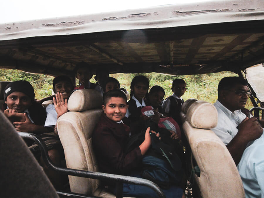 Reisebericht Sri Lanka, Schoolkids Udawalawe National Park