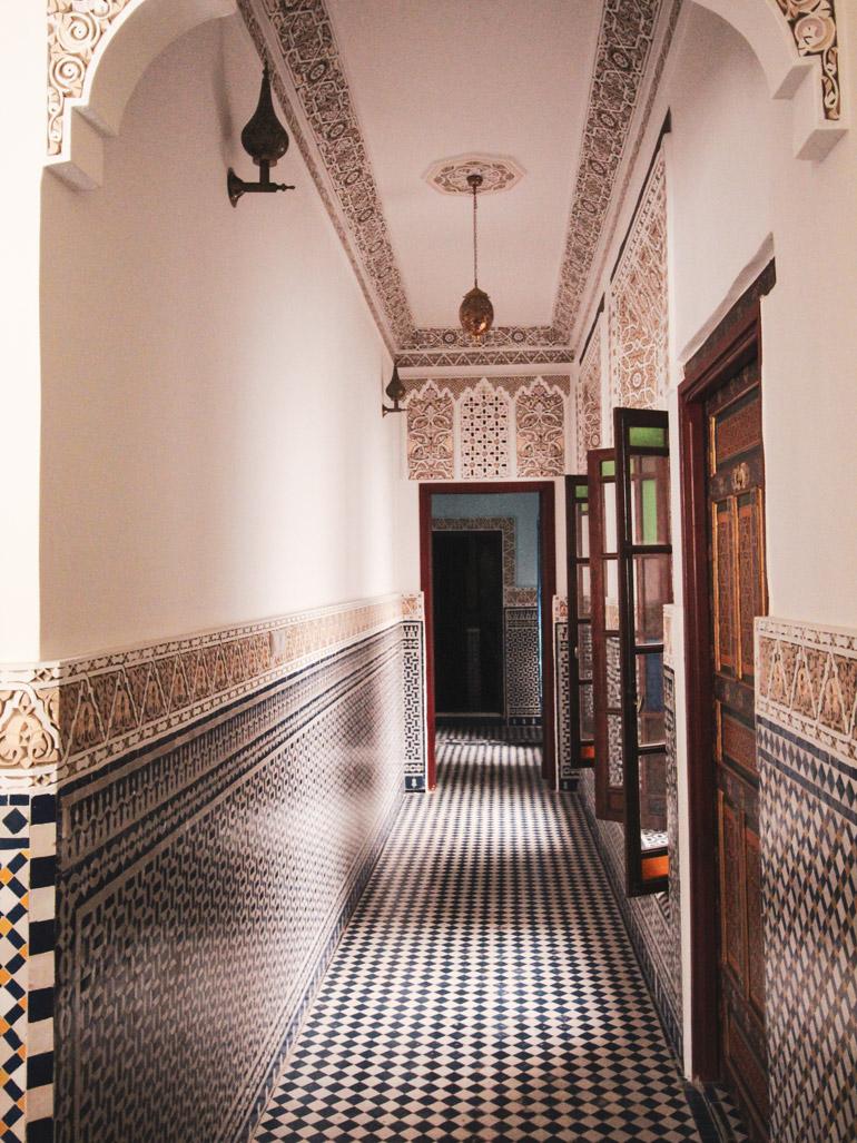 Riad in Fés, Dar el Tresor, Mosaik, Hotel, Roadtrip Marokko
