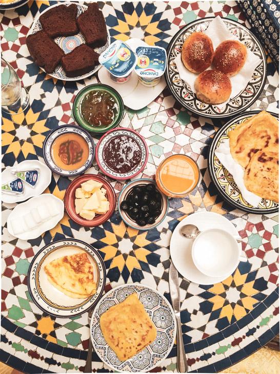 Marrokanisches Frühstück, Breakfast, Dar el Tresor, Roadtrip Marokko
