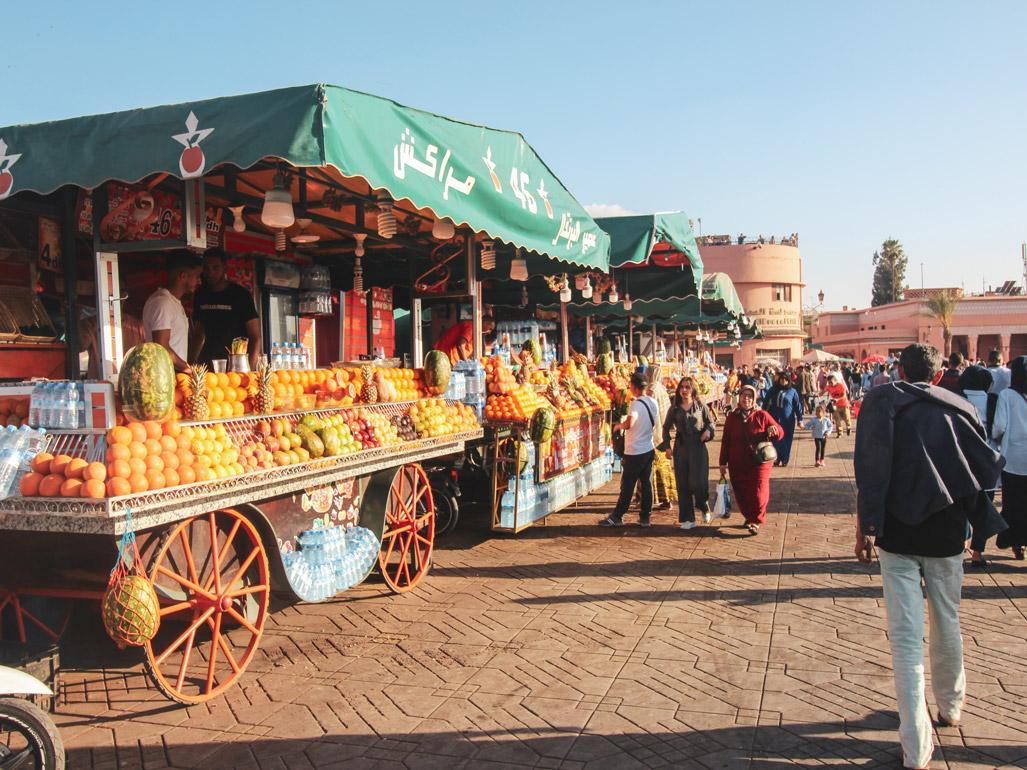 Roadtrip Marokko, Marrakesch, Fruchtstände